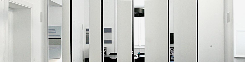 Pareti manovrabili insonorizzate da interno ed esterno anaunia for Pareti divisorie mobili per interni